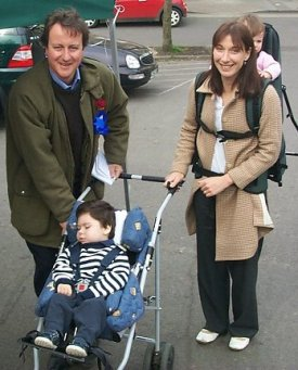David Cameron and wife and kids