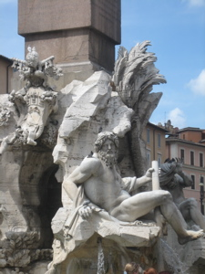 Four Rivers Fountain in Piazza Navona