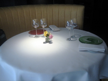 Seating at L'Astrance