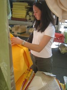 Tablecloths at Carpentras market