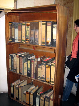 Bookshelf at Anne Frank House