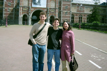 Standing in front of the Rijksmuseum