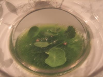 warm chive soup