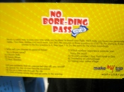 No Boreding Pass