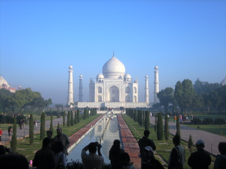 First view of the Taj Mahal, Agra