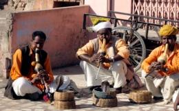 Snake charmers in Jaipur