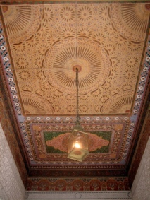 ceiling detail, Bahia Palace, Marrakesh, Morocco