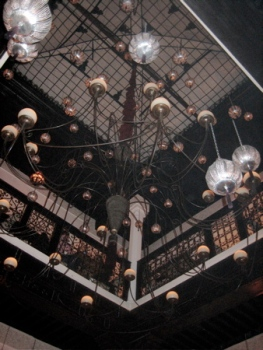 Chandelier at Le Foundouk