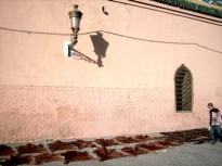 leather drying in the sun, marrakesh