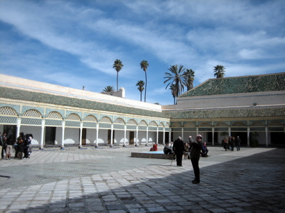 harem courtyard, Bahia Palace, Marrakesh, Morocco