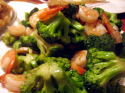 shrimp and broccoli for Christmas