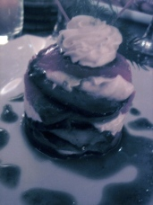 Aubergine and goat cheese millefeuille at Bo Zin