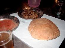 Bread and merguez sausage at Djemma el Fna