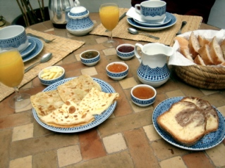 Breakfast at Riad l'Orangeraie