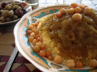 Couscous at Chez Chegrouni, Marrakesh, Morocco
