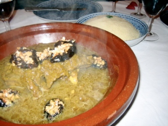 Lamb tagine at Riad l'Orangeraie
