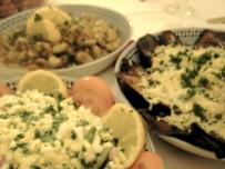 Moroccan salads at Riad l'Orangeraie