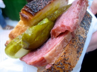 Salt Beef sandwich at Roast to Go, Borough Market, London