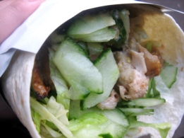 Thai chicken wrap from Fusebox, borough Market, London