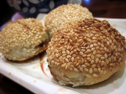 crispy Beijing-style pork dumplings