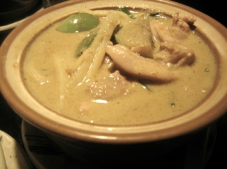Green chicken curry, Isarn restaurant