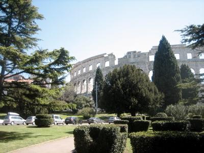 old roman arena in Pula, Croatia