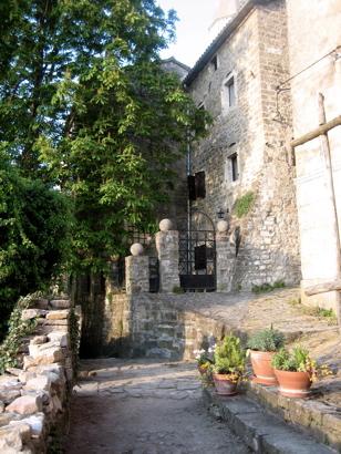 Groznjan walkway, Istria, Croatia