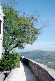 Motovun walkway