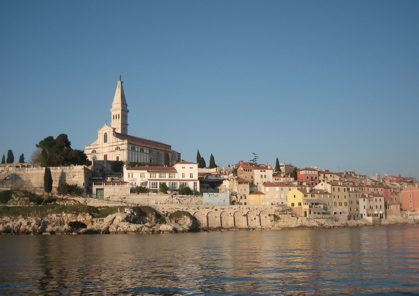 View of Rovinj and St. Euphenmia