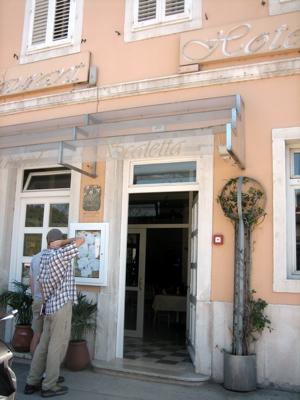 Scaletta restaurant exterior, Pula, Croatia