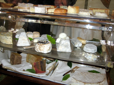 Cheese cart at Le Pre Catelan