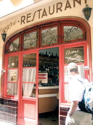 Chez Palmyre exterior, Vieux Nice
