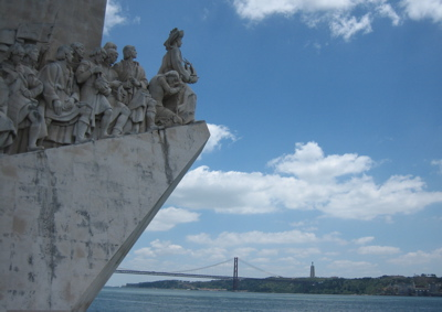 Monument to the Discoveries, 25 April Bridge, Belem, Lisbon, Portugal