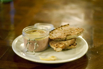 Potted Duck at the Albion gastropub, Islington, N1