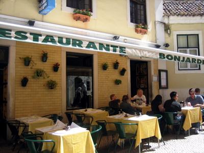 Restaurant Bonjardim exterior, Lisbon, Portugal