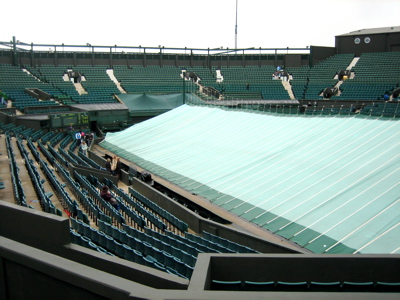 Centre Court in the rain, Wimbledon 2007