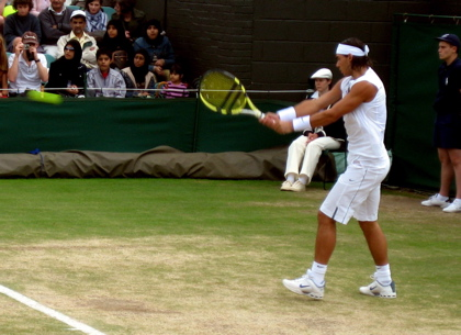 Nadal in Action on Day 10, Wimbledon
