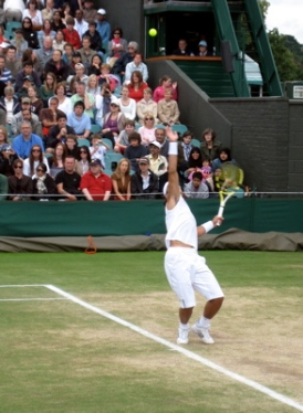 Nadal serves, Day 10, Wimbledon