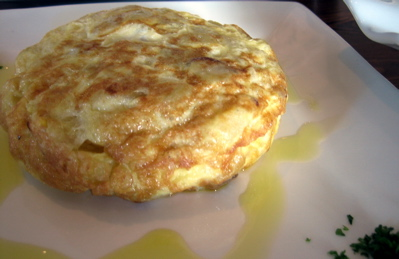 Tortilla espanola at El Faro, Canary Wharf