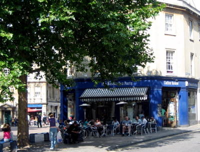 Boston Tea Party coffeehouse in Bath