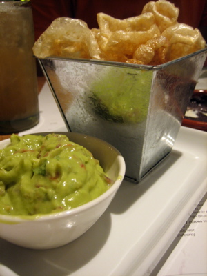 Guacamole and pork scratchings at Wahaca, London