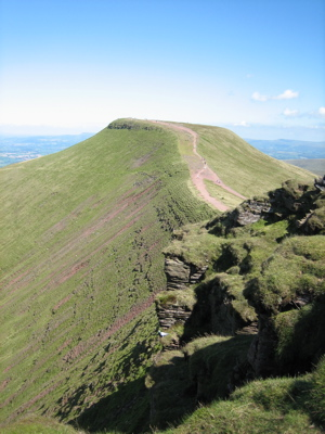 Pan y Fan mountain in Brecon Beacons, Wales