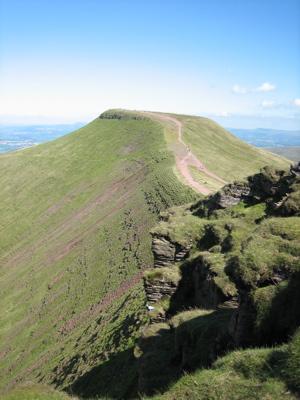 Pan y Fan mountain in Brecon Beacons, Wales