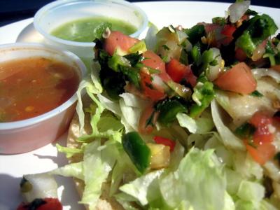 Fish taco at Pancho Villa, San Francisco