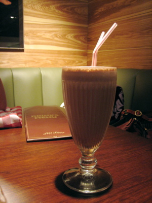 chocolate milkshake at All-Star Lanes