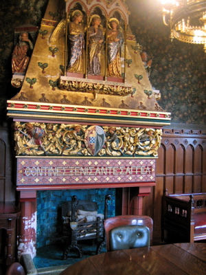 crazy interior decorating at Cardiff Castle