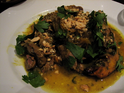 lamb tagine at Moro restaurant, Exmouth Market, London