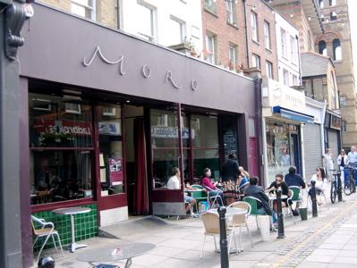 Moro Restaurant exterior, London