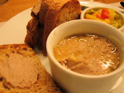 potted duck and piccadili at Canteen restaurant