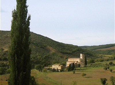 Abbey Sant'Antimo near Castelnuovo dell'Abate, Italy